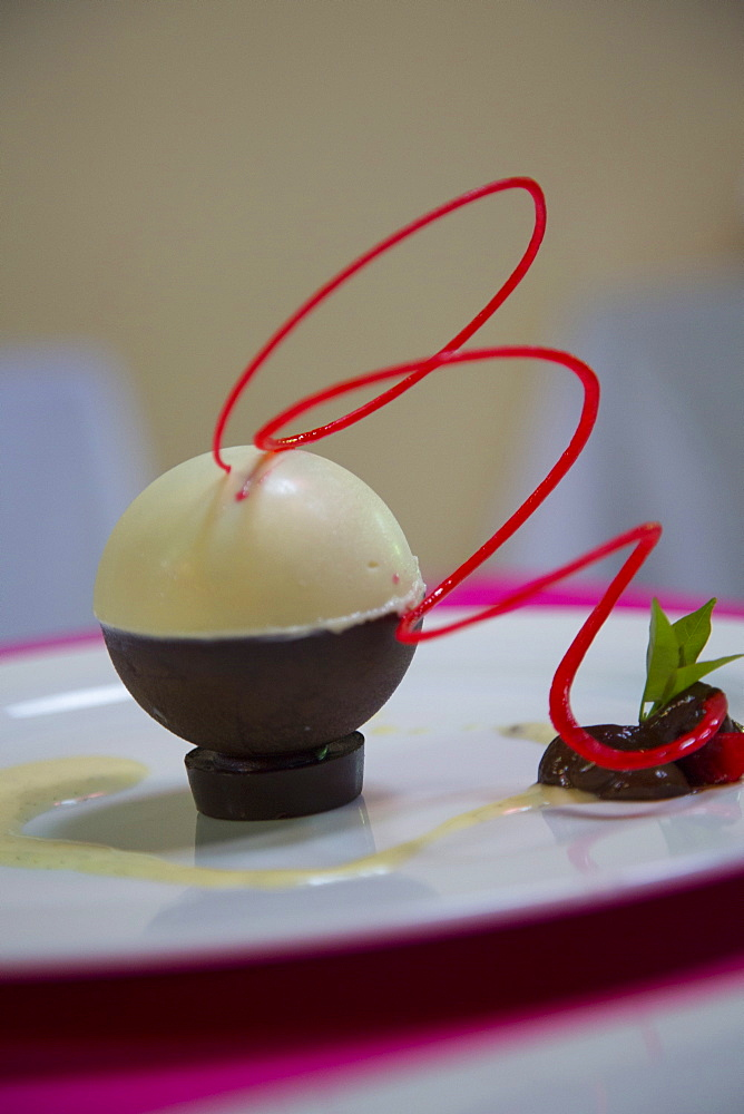 White chocolate with Poblano mole mouse, Puerto Vallarta, Jalisco, Mexico, North America