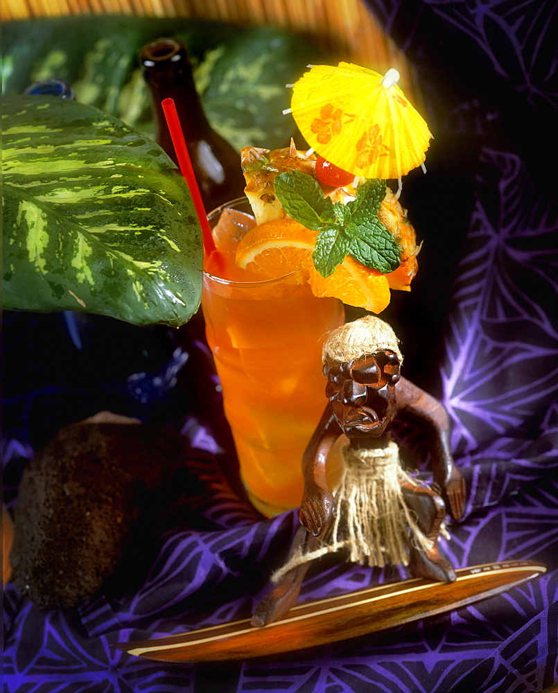 Exotic tropical drinks, Hawaii, United States of America, Pacific - 632-5530