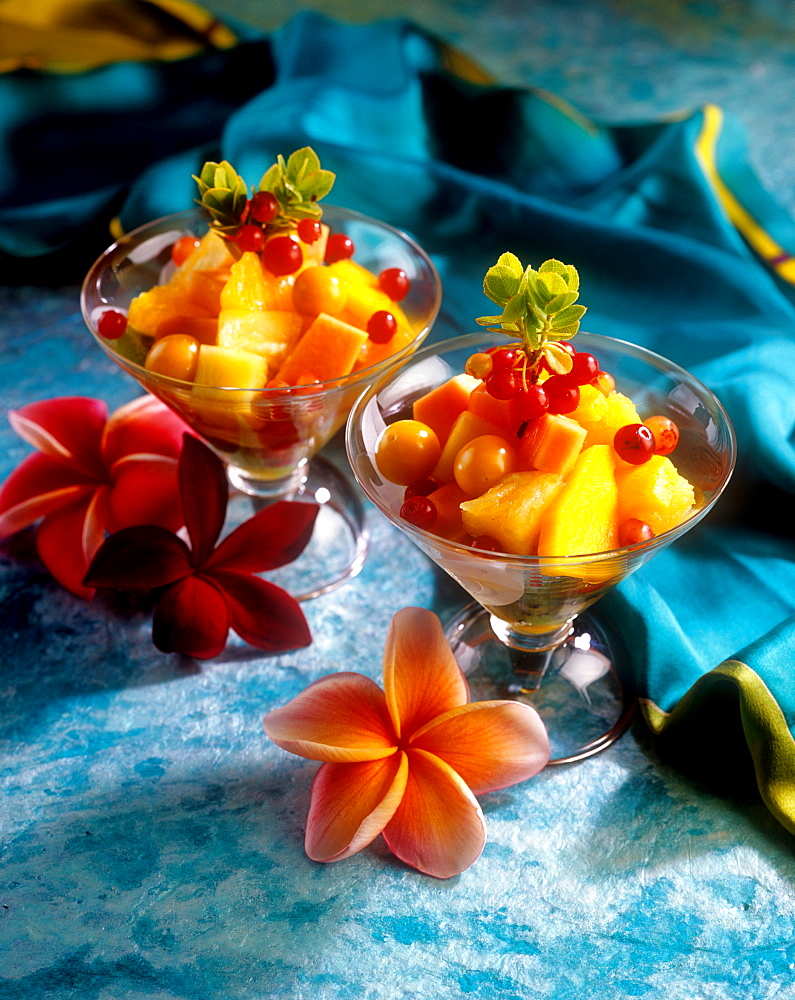 Tropical fruit salad, Hawaii, United States of America, Pacific