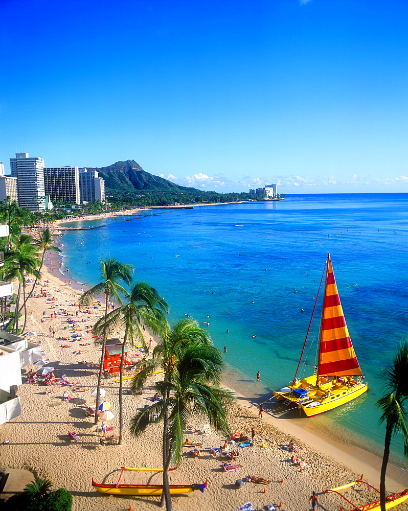 Waikiki Beach, Oahu, Hawaii, United States of America, Pacific - 632-5561
