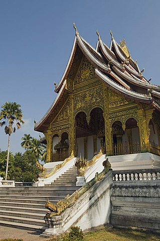 New Pavilion to house the Prabang standing Buddha statue, Royal Palace, Luang Prabang, Laos, Indochina, Southeast Asia, Asia