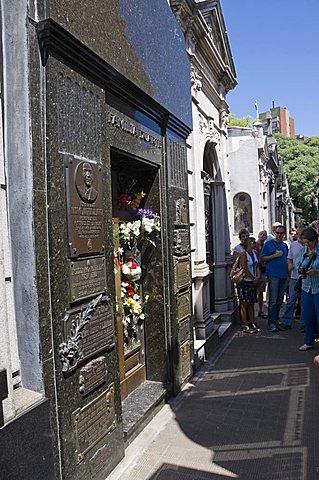 Grave of Eva Peron (Evita), Cementerio de la Recoleta, Cemetery in Recoleta, Buenos Aires, Argentina, South America