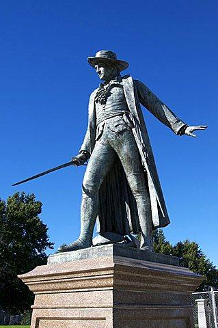 Statue of Colonel William Prescott, Bunker Hill, Charlestown, Boston, Massachusetts, New England, United States of America, North America
