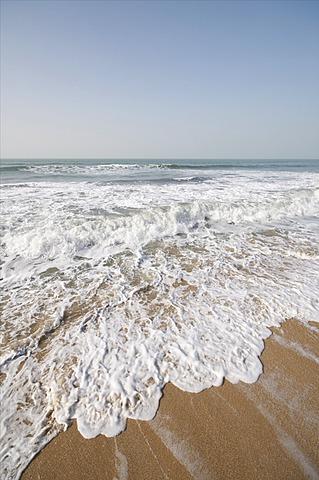 Beach at Ngala Lodge, situated between the resorts of Bakau and Fajara, near Banjul, Gambia, West Africa, Africa