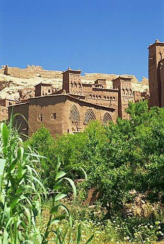 Ait Benhaddou, Ksour with many kasbahs, UNESCO World Heritage Site, near Ouarzazate, Morocco, North Africa, Africa