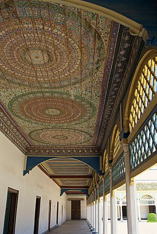 Bahia Palace, Marrakesh, Morocco, North Africa, Africa