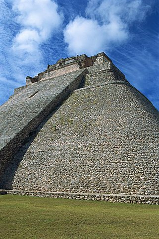 Magician's Pyramid, Uxmal, UNESCO World Heritage Site, Yucatan, Mexico, North America