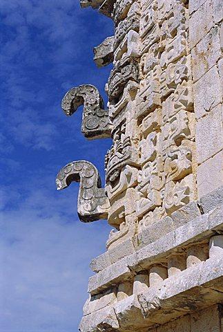 Nunnery Quadrangle at Mayan site of Uxmal, Yucatan, Mexico, Central America