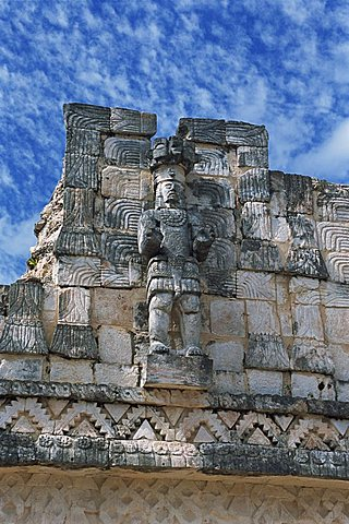 Puuc Mayan site of Kabah, the Codz Poop (Palace of Masks), Kabah, near Uxmal, Yucatan, Mexico, North America