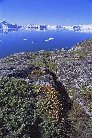 The icefjord at Sermermiut, Ilulissat, formerly Jacobshavn, Greenland, Polar Regions