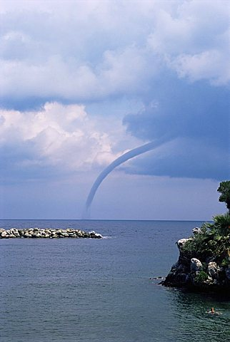 Water spout, Damouchari, Pelion, Greece, Europe - 641-5347