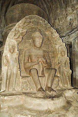 The Ellora Caves, temples cut into solid rock, UNESCO World Heritage Site, near Aurangabad, Maharashtra, India, Asia