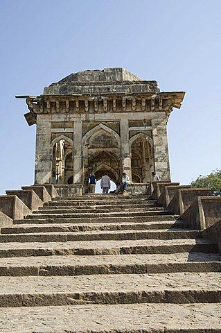Ashrafi Mahal, a madrasa or religious school, Mandu, Madhya Pradesh state, India, Asia