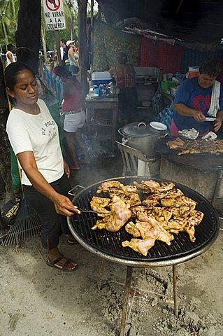 Food vendors, Manuel Antonio, Costa Rica, Central America