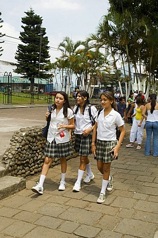 School girls, Grecia, Central Highlands, Costa Rica, Central America
