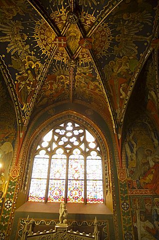 Interior of Wawel Catherdral, Royal Castle area, Krakow (Cracow), UNESCO World Heritage Site, Poland, Europe