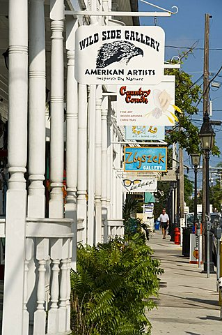 Galleries on Duval Street, Key West, Florida, United States of America, North America