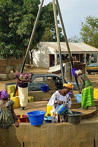 Communal well, near Banjul, Gambia, West Africa, AFrica