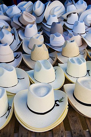 Hats, market day at Zaachila, Oaxaca, Mexico, North America - 641-7080