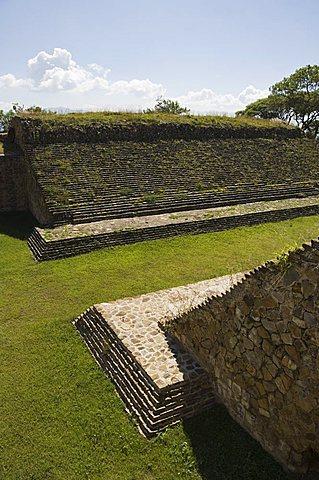 The ball court, the ancient Zapotec city of Monte Alban, UNESCO World Heritage Site, near Oaxaca City, Oaxaca, Mexico, North America