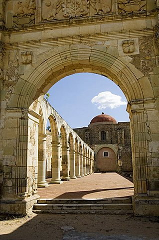 Monastery and church of Cuilapan, Oaxaca, Mexico, North America - 641-7265