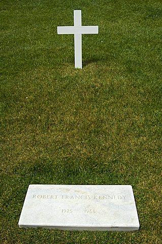 Tomb of Bobby (Robert) Kennedy at Arlington National Cemetery, Arlington, Virginia, United States of America, North America