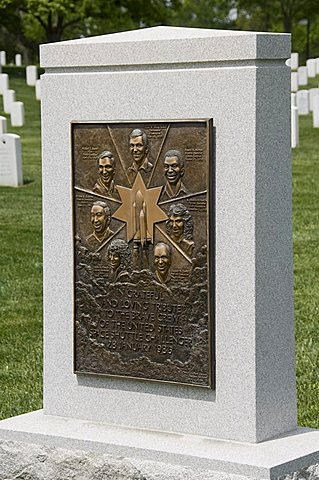 Memorial to the crew of the Space Shuttle Challenger, Arlington National Cemetery, Arlington, Virginia, United States of America, North America