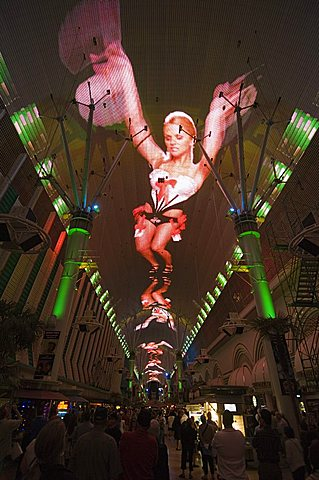 Fremont Street Light and Sound Show Experience, Fremont Street, the older part of Las Vegas, Nevada, United States of America, North America