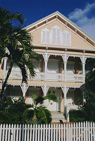 Old Town architecture, Key West, Florida, USA, North America