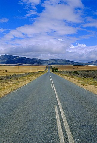 Straight road, Little Karoo, South Affrica
