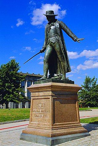 Statue of Col. William Prescott, Charlestown,Bunker Hill Monument, Boston, Massachusetts, USA