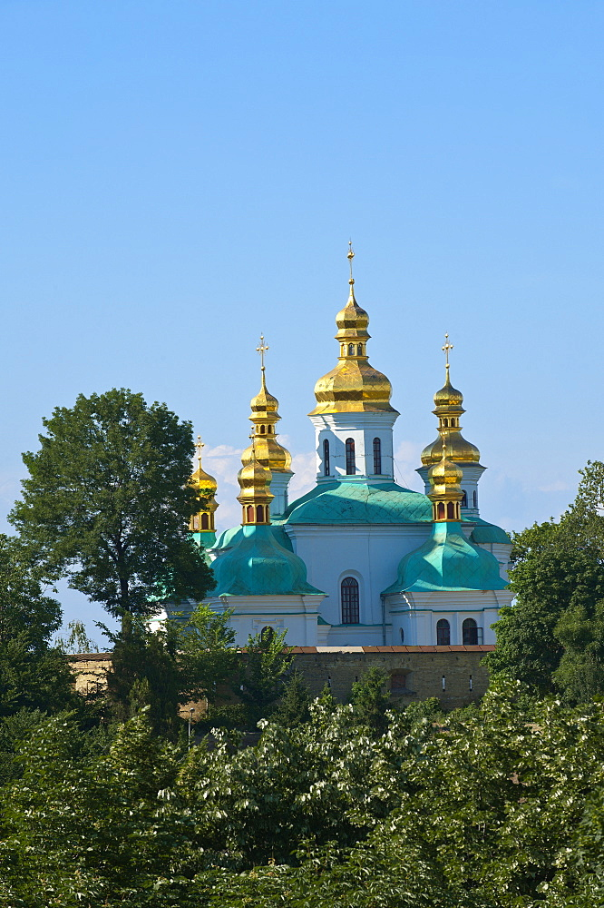 Church of the Nativity of the Virgin and Kovnirs Bell Tower, Pechersk Lavra, UNESCO World Heritage Site, Kiev, Ukraine, Europe