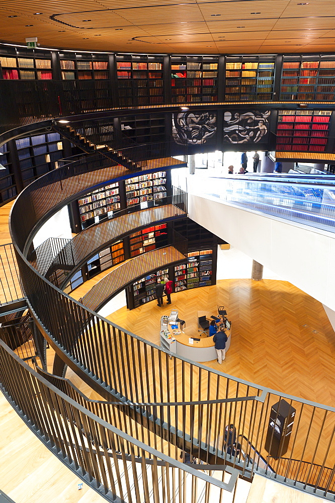 Interior view of The Library of Birmingham, England, United Kingdom, Europe - 663-818
