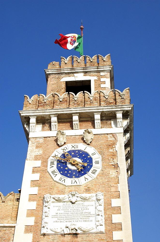 Tower, Arsenal, Venice, Veneto, Italy, Europe