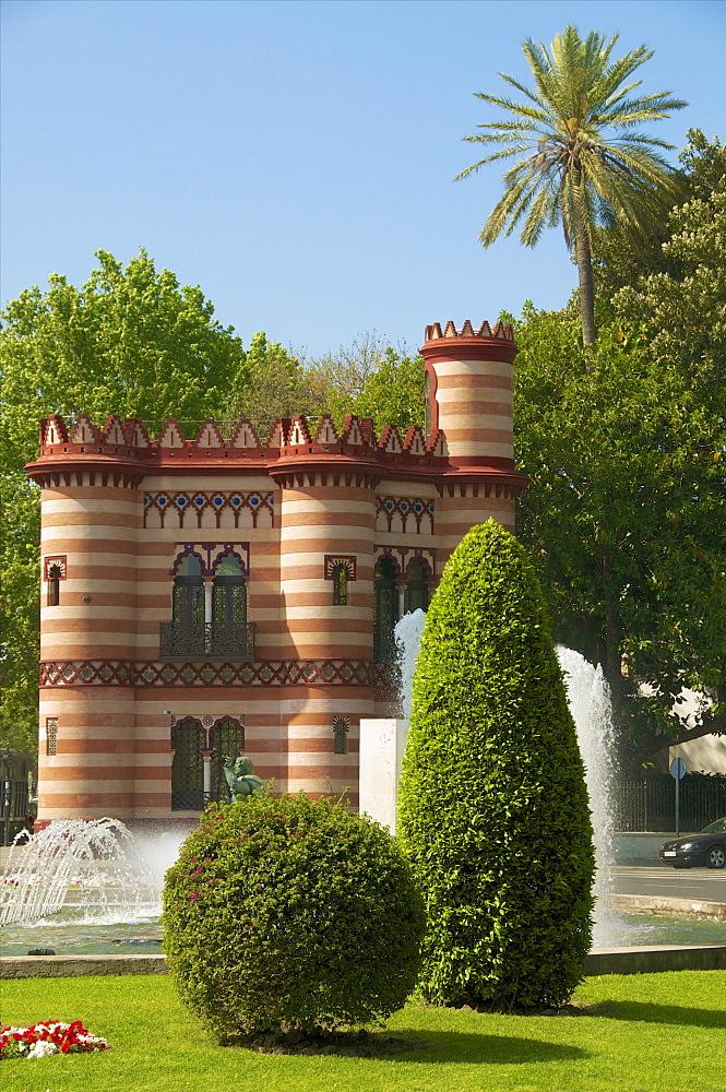 Costurero de la Reina (Queen's sewing box), Maria Luisa Park, Seville, Andalusia, Spain,Europe