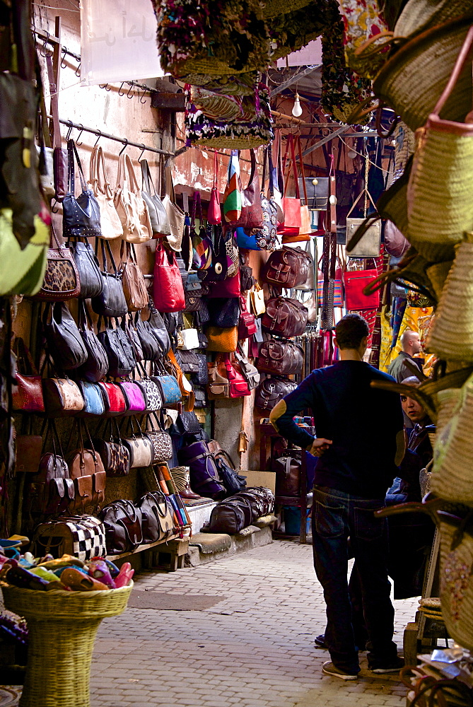 Shops inside the Medina, Marrakech, Morocco, North Africa, Africa