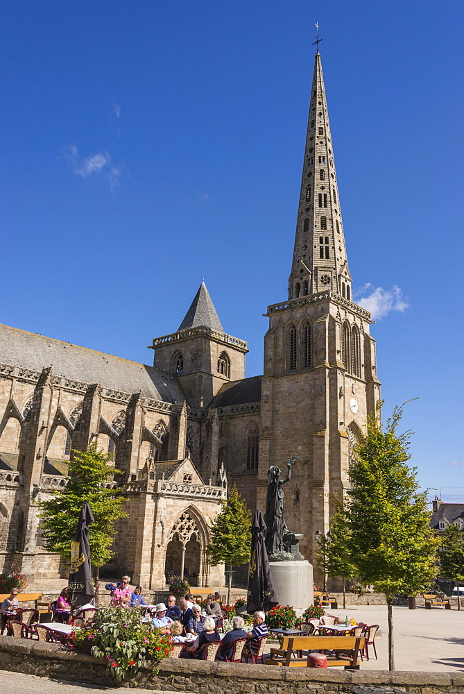 Saint Tugdual cathedral, Treguier, Cotes d'Armor, Brittany, France, Europe - 665-5497