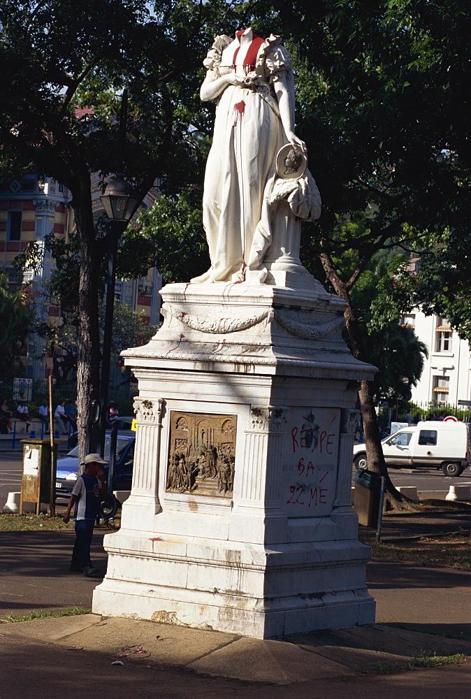 Empress Josephine statue, Fort de France, Martinique, Caribbean, Central America
