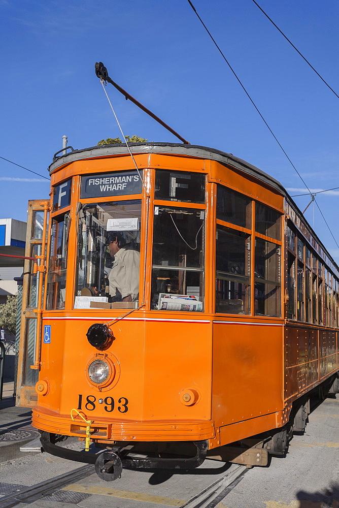 F line trolley streetcar, San Francisco, California, United States of America, North America - 667-2560