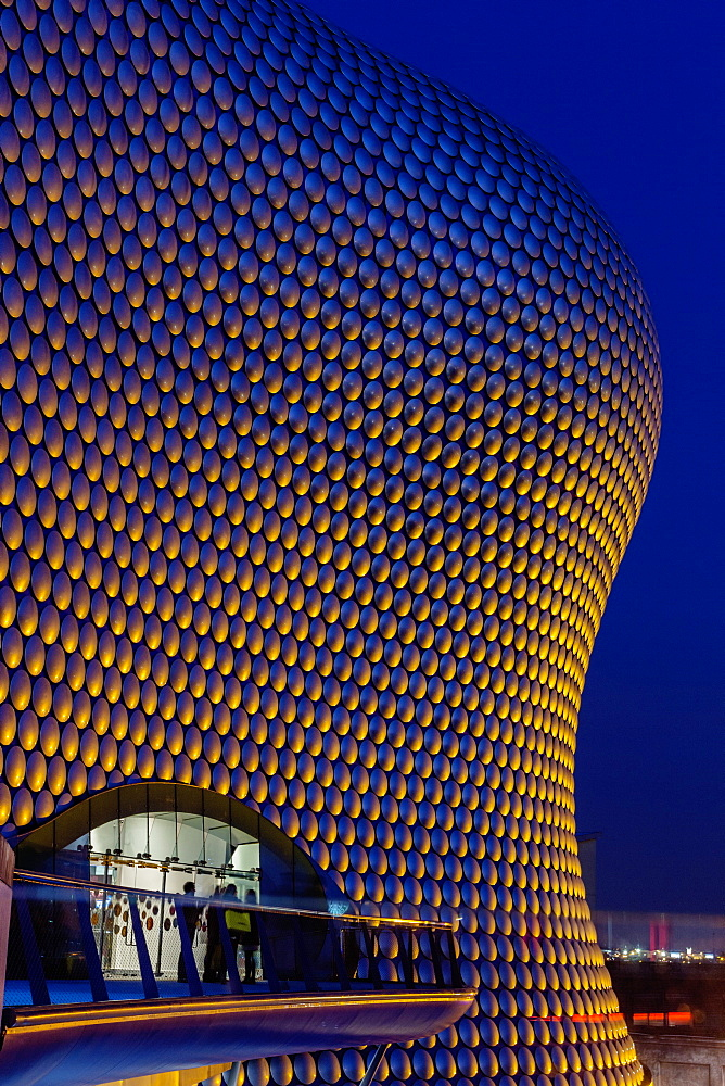 Selfridges building at twilight, Birmingham, West Midlands, England, United Kingdom, Europe - 667-2567