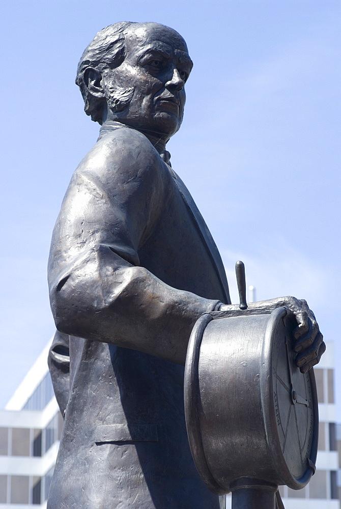 Statue of Samuel Cunard, native of Halifax, Harbour Walk, Halifax, Nova Scotia, Canada, North America