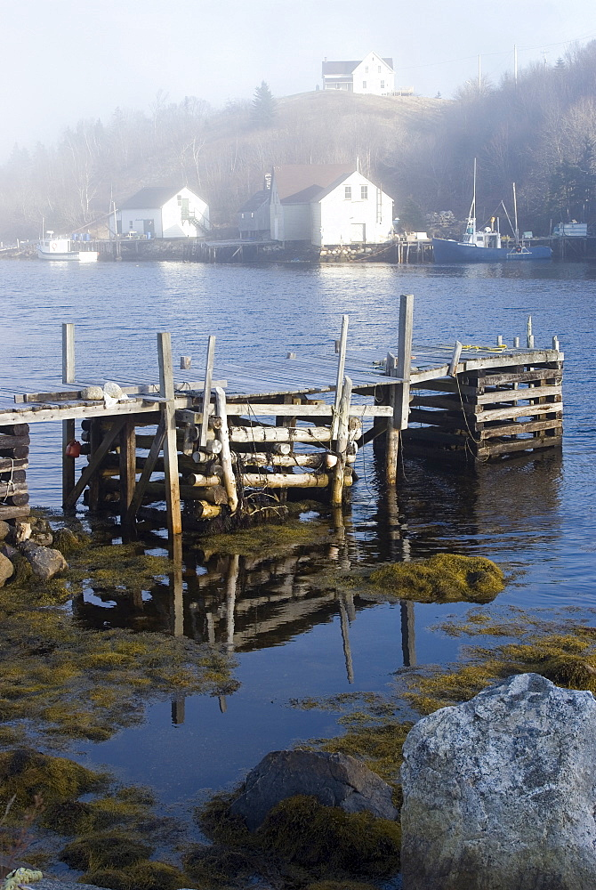Typical fishing village in the southwest of Nova Scotia, Canada, North America