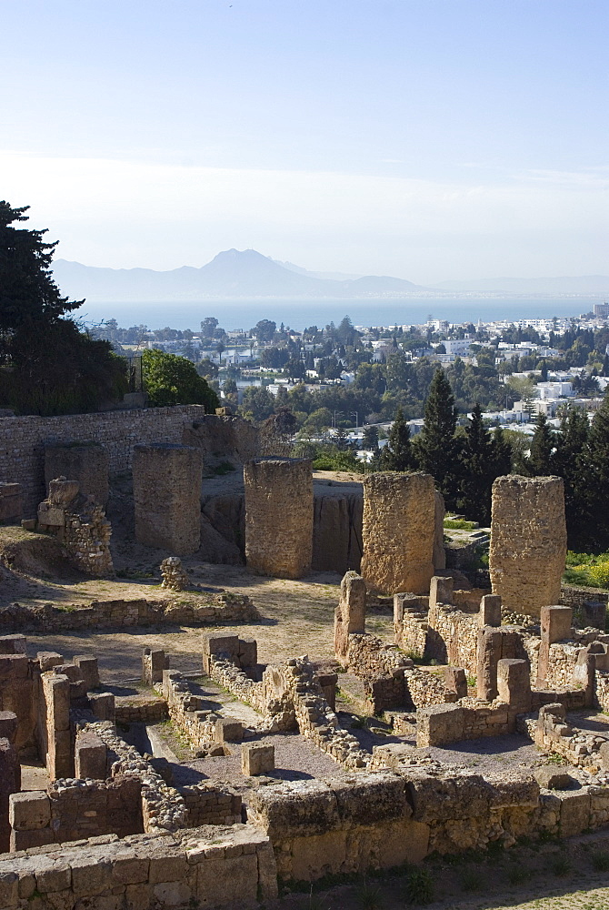 Byrsa Hill, the original Punic site at Carthage, UNESCO World Heritage Site, near Tunis, Tunisia, North Africa, Africa
