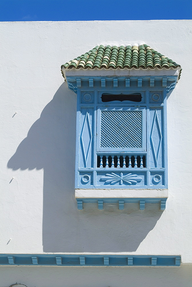 Window detail, La Marsa resort, near Tunis, Tunisia, North Africa, Africa