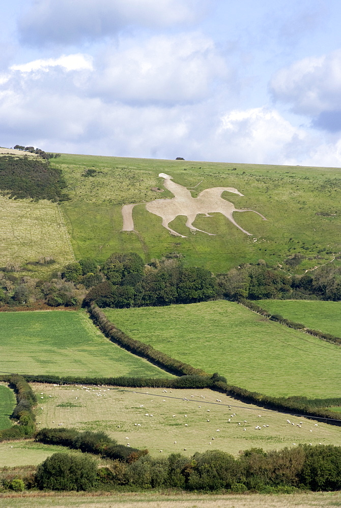 The White Horse of Osmington Hill, Weymouth, Dorset, England, United Kingdom, Europe