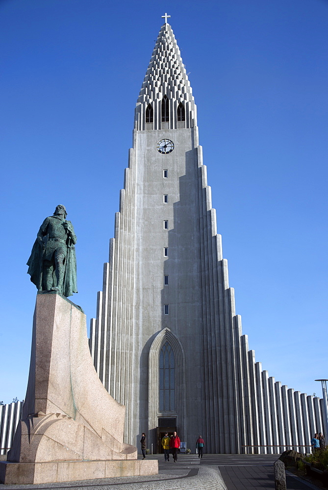 Hallgrimskirja Church, Reykjavik, Iceland, Polar Regions