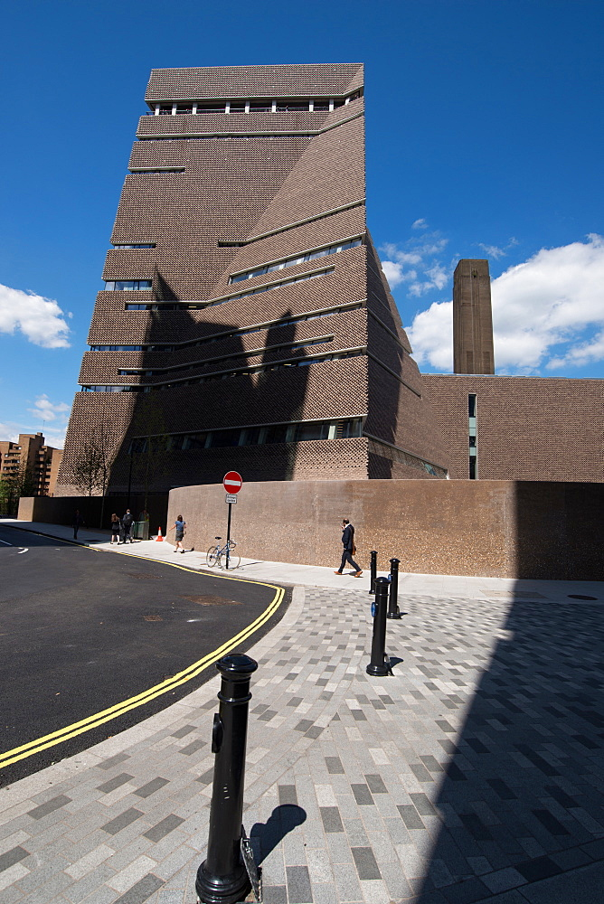 The new Tate Modern Annex, designed by Herzog and de Meuron, Southwark, London, SE1, England, United Kingdom, Europe - 685-2655