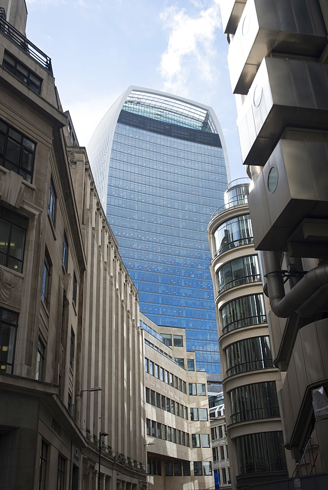 View of the Walkie-Talkie Building, 20 Fenchurch Street, City of London, EC3, England, United Kingdom, Europe - 685-2673