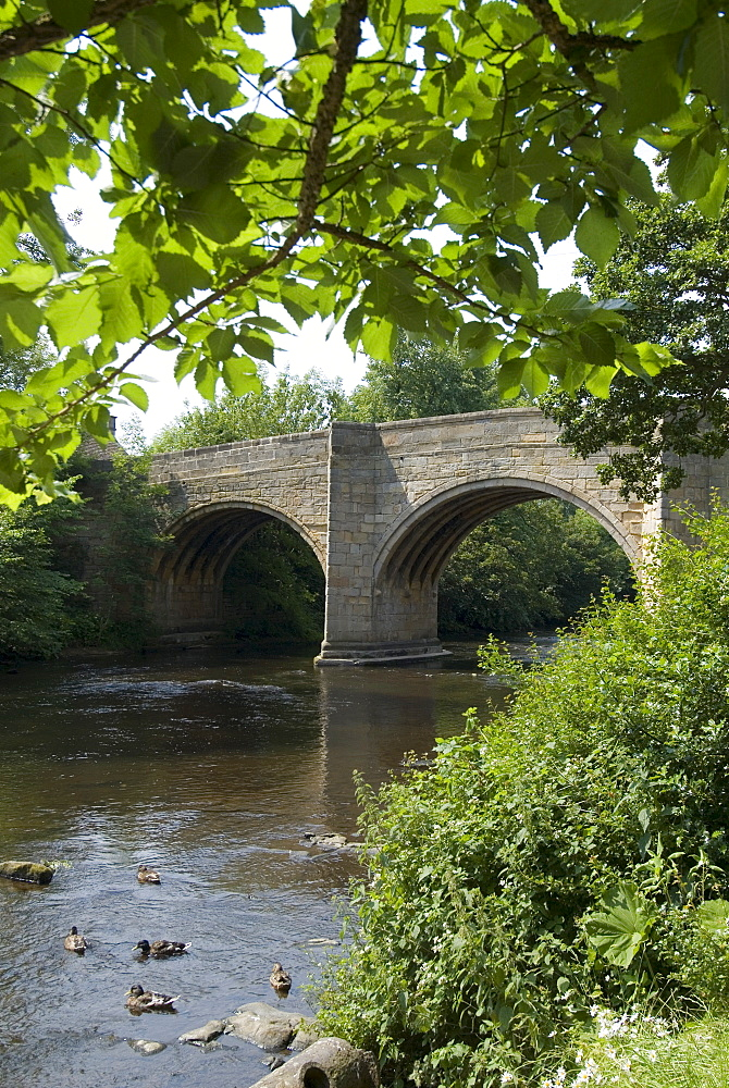 Baslow Bridge, Derbyshire, Peak District National Park, England, United Kingdom, Europe