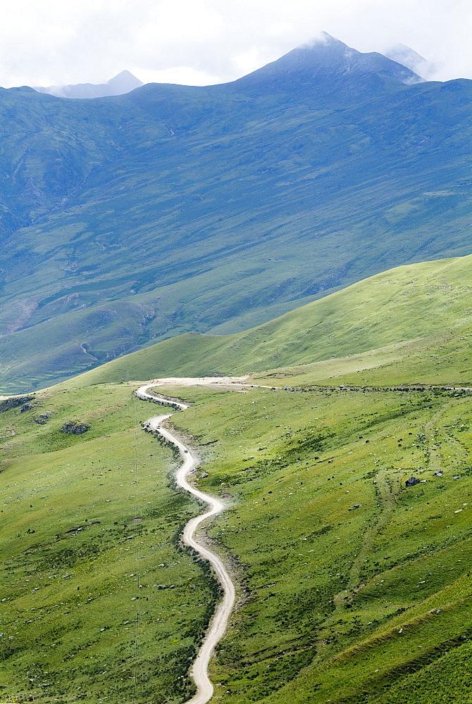 Road to Ganden Monastery, near Lhasa, Tibet, China, Asia